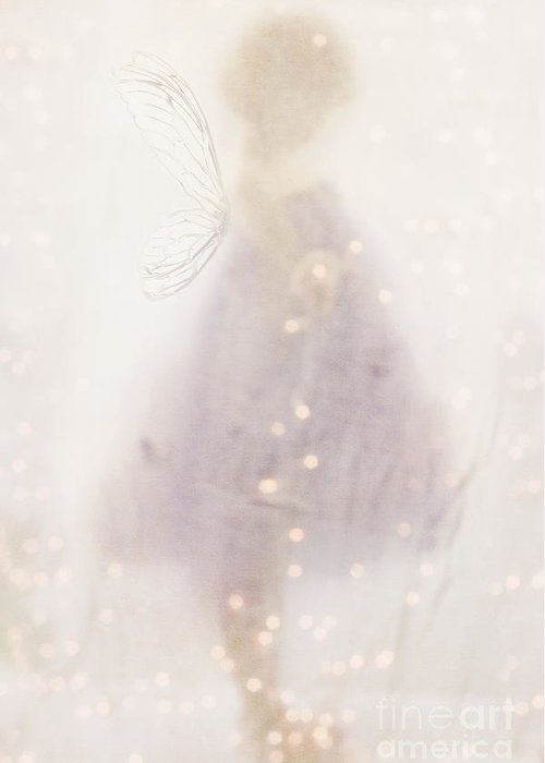 Head Down Greeting Card featuring the photograph Fairy Lights by Stephanie Frey
