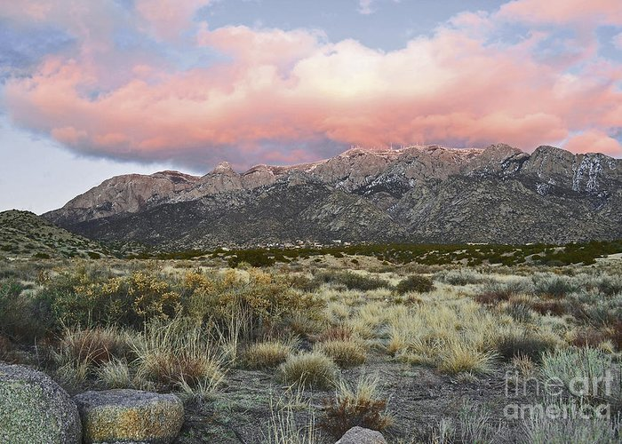 Albuquerque New Mexico Greeting Card featuring the photograph Fairytale Clouds by Andrea Hazel Ihlefeld