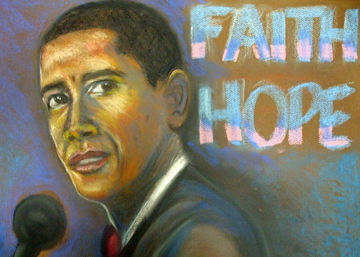 Greeting Card featuring the drawing Faith And Hope by Jan Gilmore