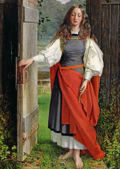 Female Greeting Card featuring the painting Faith by George Dunlop Leslie