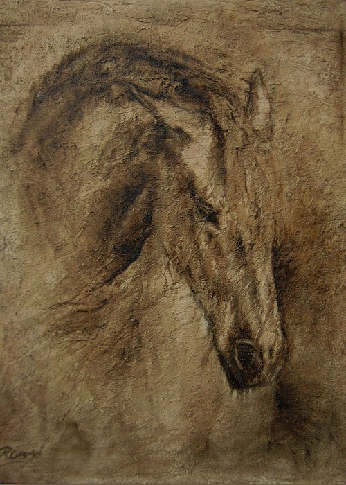 Paardeschilderij Framed Prints Greeting Card featuring the painting Faith by Paula Collewijn - The Art of Horses