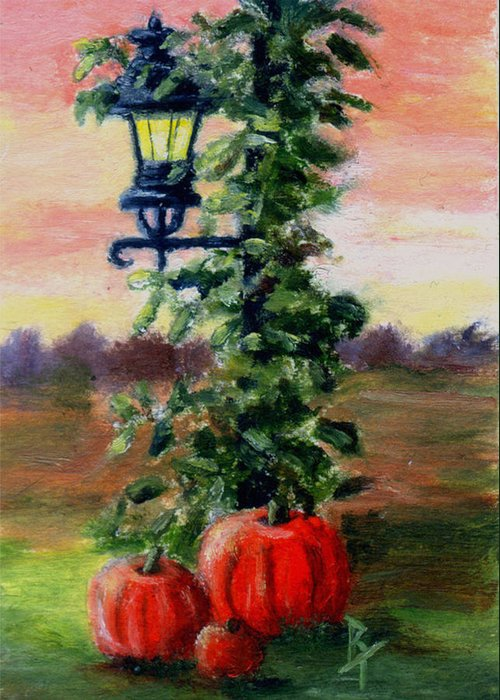 Fall Greeting Card featuring the painting Fall Aceo by Brenda Thour