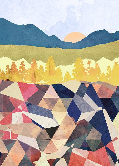 Fall Greeting Card featuring the digital art Fall Afternoon Light by Spacefrog Designs