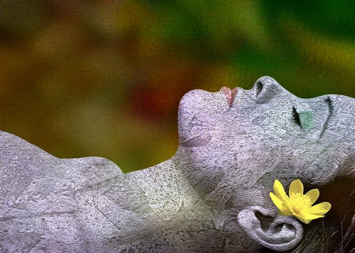Atumn Greeting Card featuring the digital art Fall Asleep by Tom Romeo