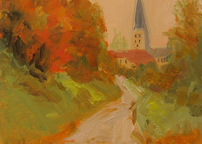 Nature Greeting Card featuring the painting Fall Colors by Barbara Andolsek