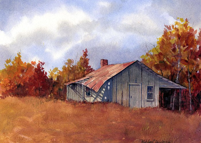 Landscape Greeting Card featuring the painting Fall Colors by Michael Taylor