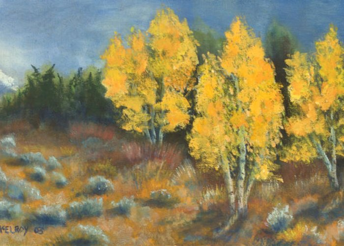 Landscape Greeting Card featuring the painting Fall Delight by Jerry McElroy