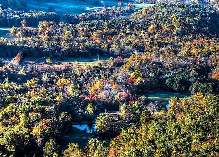 Autumn Greeting Card featuring the photograph Fall In Shenandoah Valley by Ronda Ryan