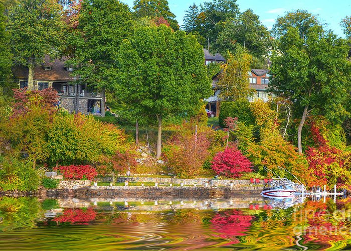 Scenic Greeting Card featuring the photograph Fall Paradise by Kathy Baccari