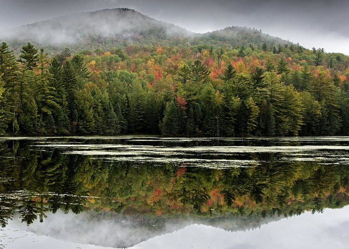 Fall Greeting Card featuring the photograph Fall Reflections In The Adirondack Mountains by Brendan Reals