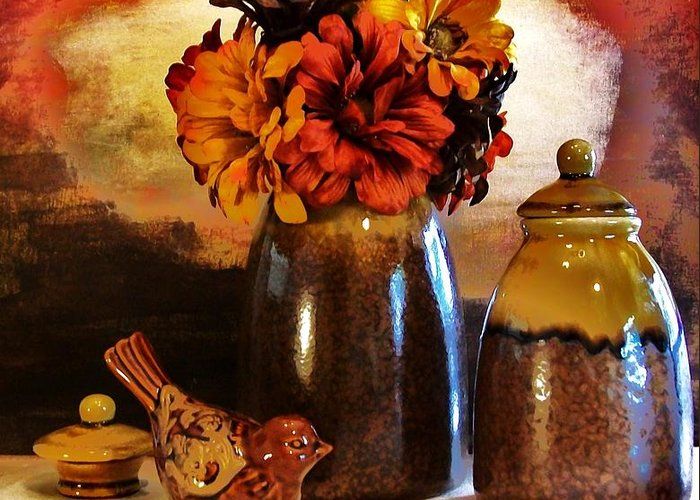 Photo Greeting Card featuring the photograph Fall Still Life by Marsha Heiken