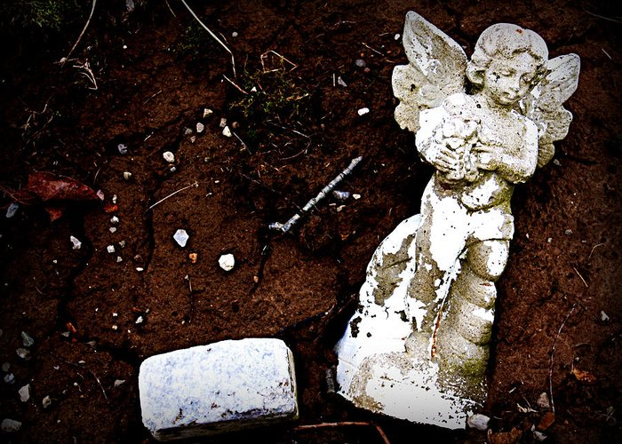Angel Greeting Card featuring the photograph Fallen Angel by Susie Weaver