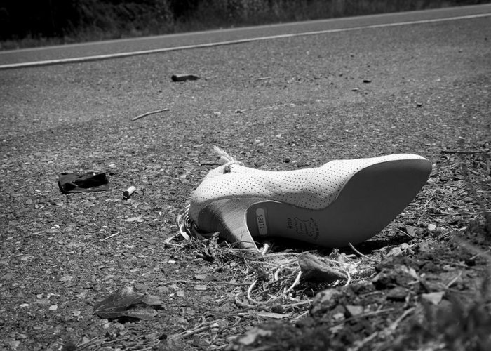 Shoe Greeting Card featuring the photograph Fallen by Kevin Brett