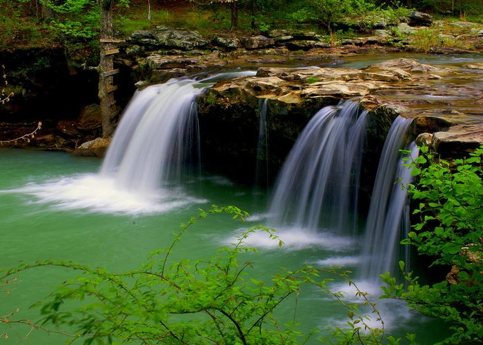 Waterfalls Greeting Card featuring the photograph Falling Water Falls by Marty Koch