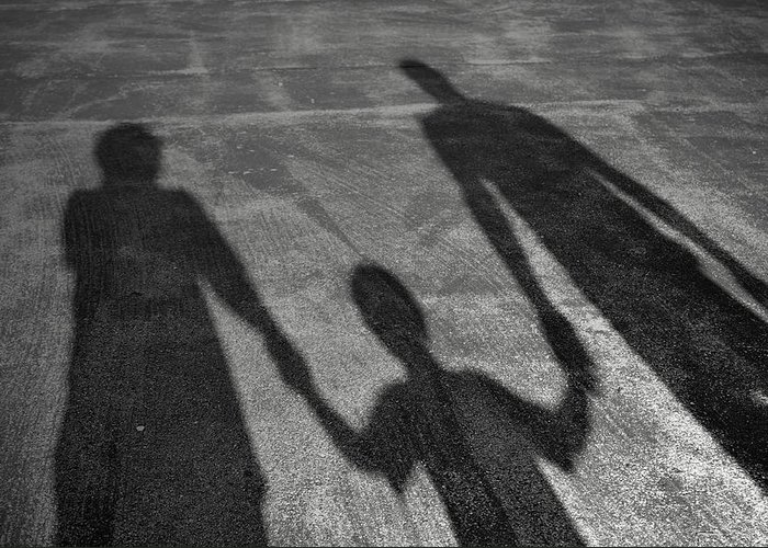 Family Greeting Card featuring the photograph Family Of Shadows by Shawn Wood