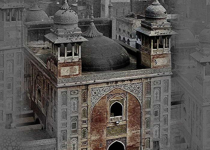 Famous Old Building Of Lahore Pakistan 004 Greeting Card