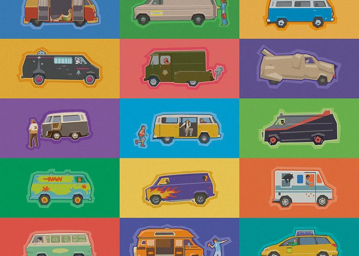 Van Greeting Card featuring the photograph Famous Vans by Mitch Frey