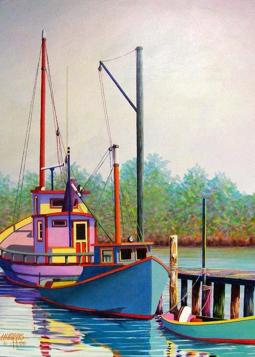 Landscape Greeting Card featuring the painting Fancy Fleet by Hugh Harris