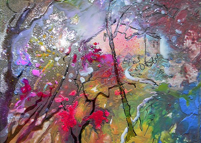 Miki Greeting Card featuring the painting Fantaspray 19 1 by Miki De Goodaboom