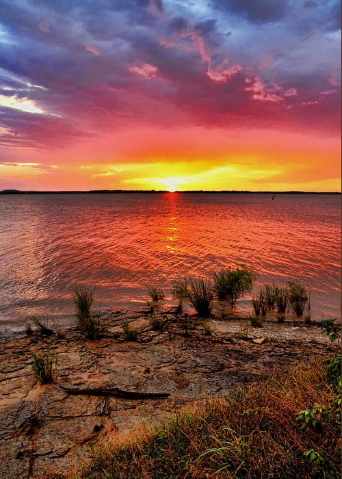 Sunset Greeting Card featuring the photograph Fantastic Sky Colors by Carolyn Fletcher
