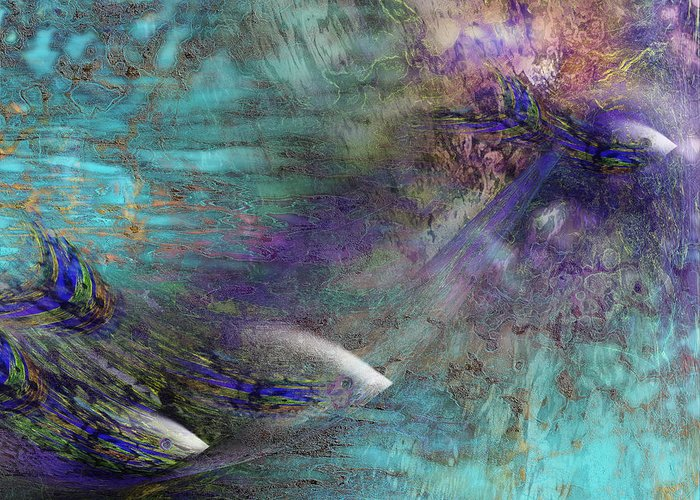 Fish Water Ocean Greeting Card featuring the digital art Fantasy Fish by Gae Helton