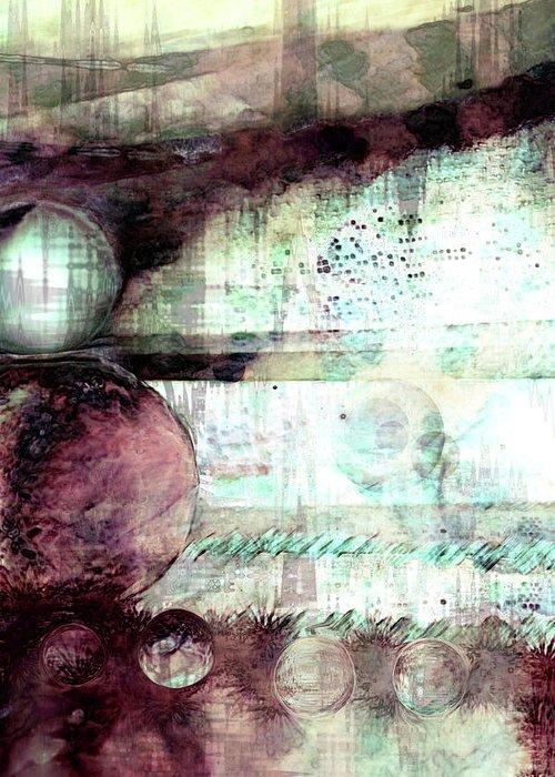 Dream Art Greeting Card featuring the digital art Far Dreaming by Linda Sannuti