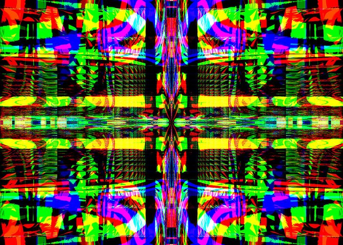 Digital Greeting Card featuring the digital art Farca by Blind Ape Art