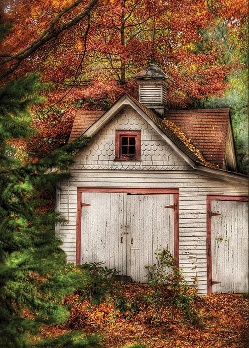 Savad Greeting Card featuring the photograph Farm - Barn - Our Old Shed by Mike Savad
