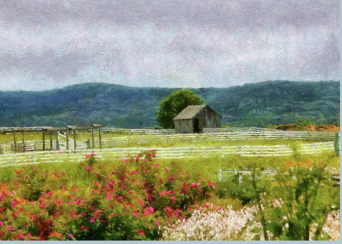 Suburbanscenes Greeting Card featuring the photograph Farm - Barn - Out In The Country by Mike Savad