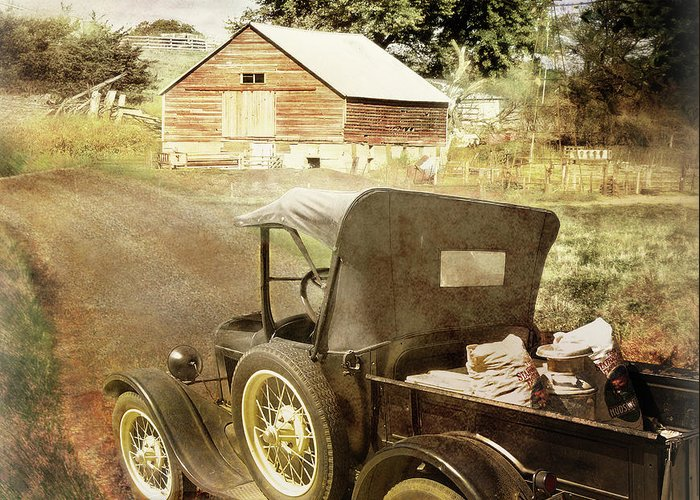 Cars Greeting Card featuring the photograph Farm Delivered by John Anderson