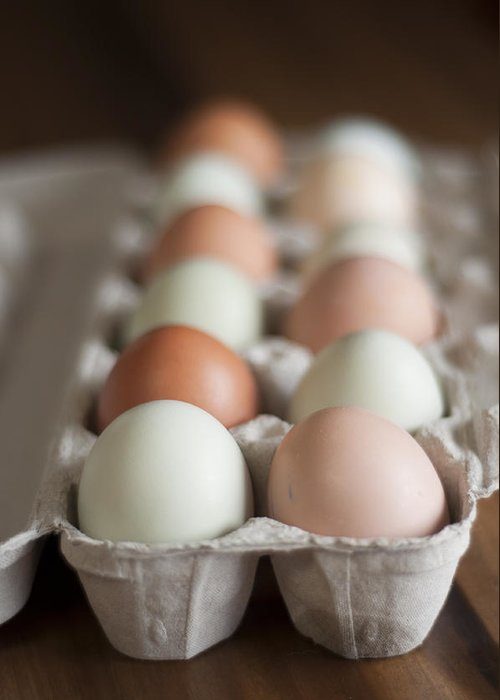 Eggs Greeting Card featuring the photograph Farm Fresh Eggs by Ken Stigler