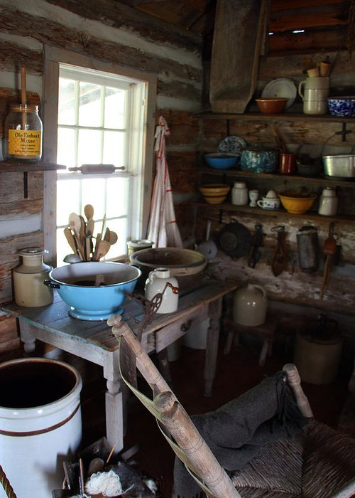 Farm Kitchen Greeting Card featuring the photograph Farm Kitchen by Joanne Coyle