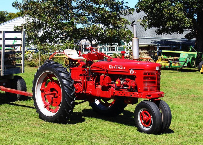 Farmall Greeting Card featuring the photograph Farmall At The Country Fair by Andrew Pacheco