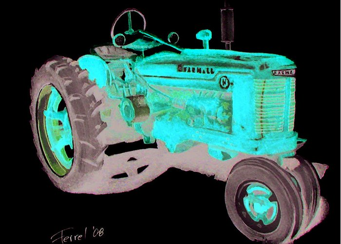 Farmall Greeting Card featuring the painting Farmall Tractor by Ferrel Cordle