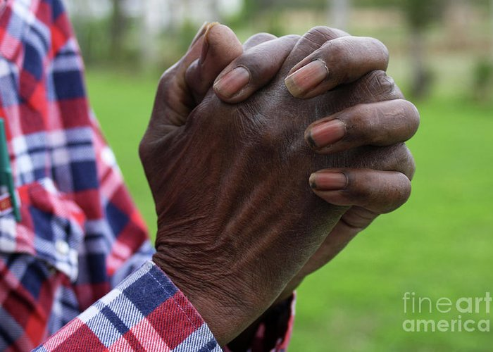 Hands Greeting Card featuring the photograph Farmers Prayer by Joy Tudor