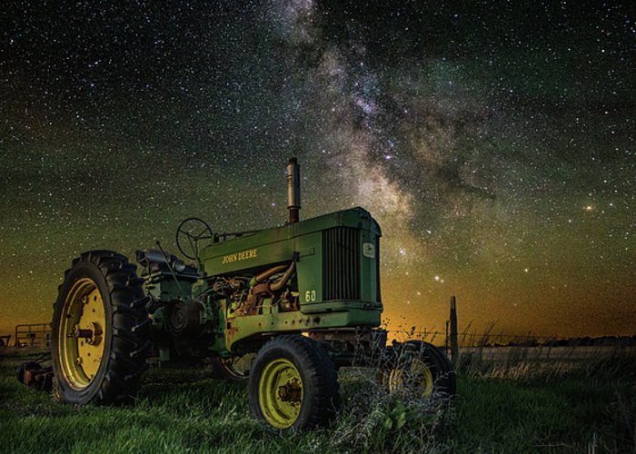 Air Glow Greeting Card featuring the photograph Farming The Rift 3 by Aaron J Groen
