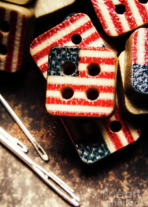 Tailoring Greeting Card featuring the photograph Fashioning A Usa Design by Jorgo Photography - Wall Art Gallery
