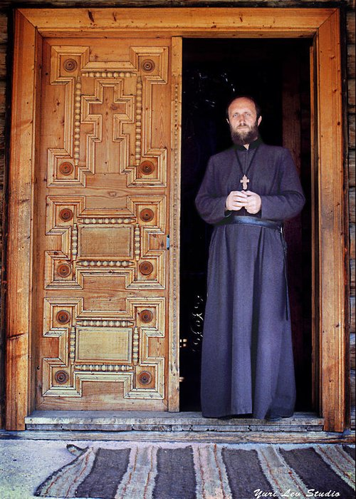 Ukraine Greeting Card featuring the photograph Father Alexander by Yuri Lev