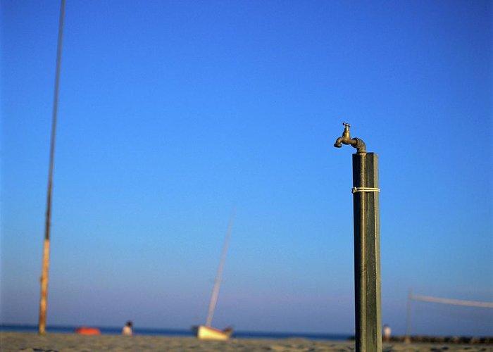 Beach Greeting Card featuring the photograph Faucet by Bernard Jaubert