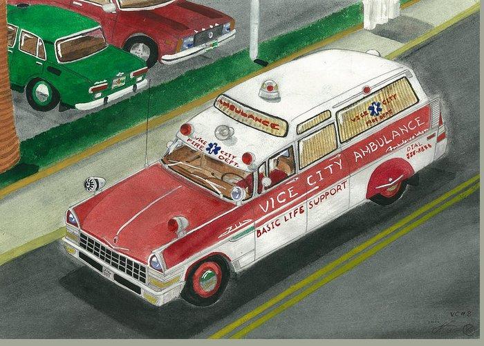 Fdvc Zil Ambulance Greeting Card