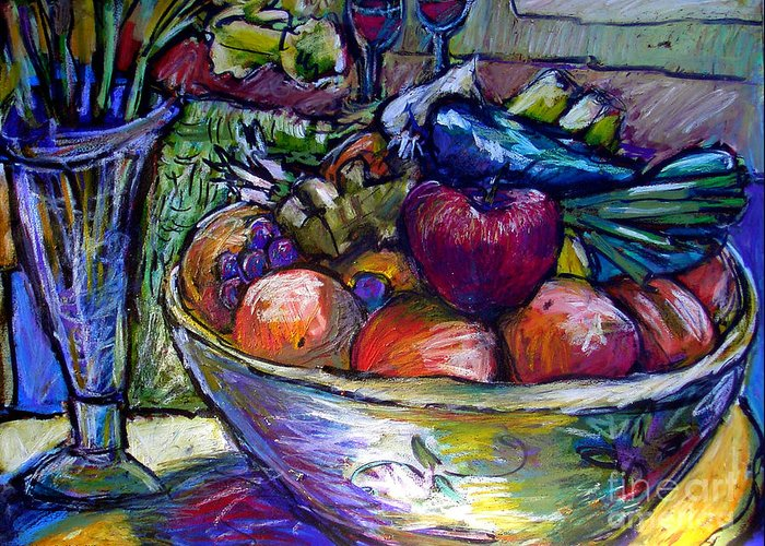 Still Life Greeting Card featuring the painting February Still Life In Angelinas Kitchen 3 by Angelina Marino