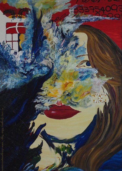 Como Greeting Card featuring the painting Fede The Como Girl by Gregory Allen Page