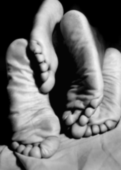 Art Greeting Card featuring the photograph Feet-sees by Ed Silvera