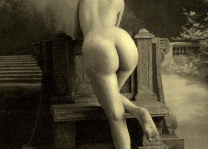 Nude Greeting Card featuring the photograph Female Nude, Circa 1900 by French School