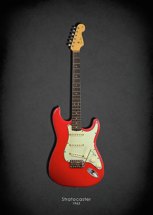 Fender Stratocaster Greeting Card featuring the photograph Fender Stratocaster 63 by Mark Rogan