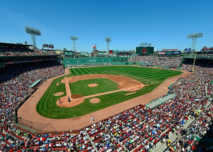 Mark Whitt Greeting Card featuring the photograph Fenway Park - Boston Red Sox by Mark Whitt