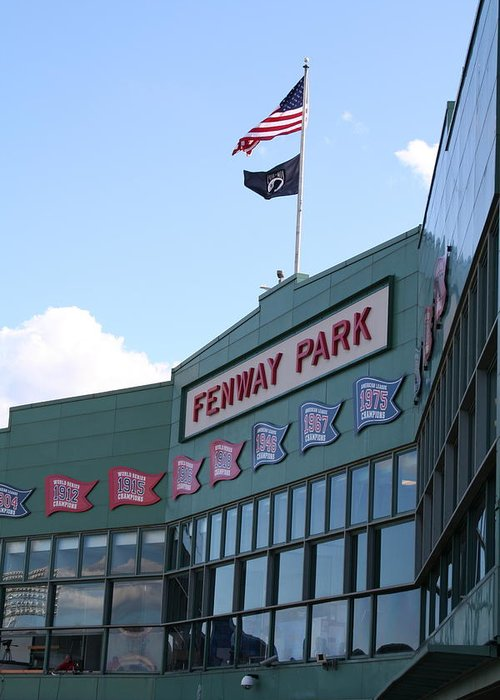 Fenway Park Greeting Card featuring the photograph Fenway Park Centennial by Loud Waterfall Photography Chelsea Sullens