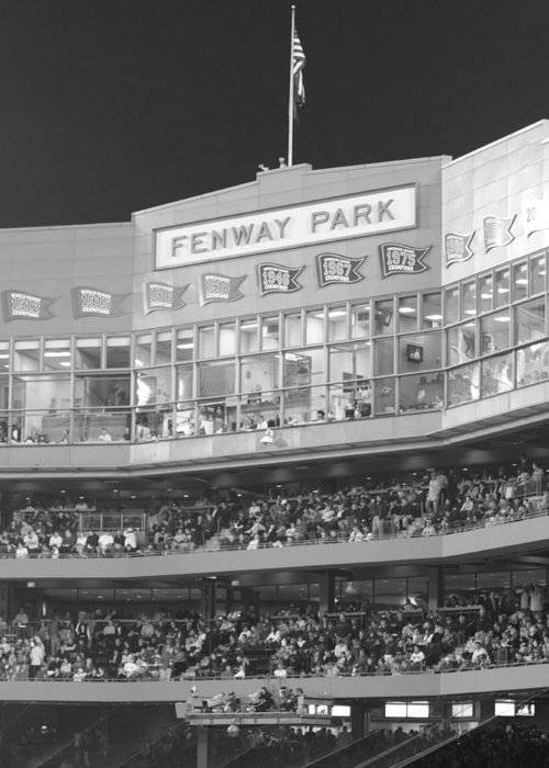 Fenway Park Greeting Card featuring the photograph Fenway Park by Lauri Novak