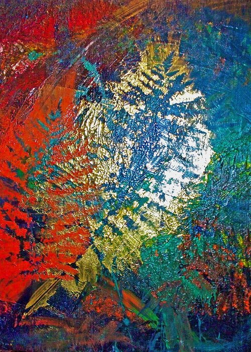 Imprints Greeting Card featuring the painting Ferns by Jennifer Addington