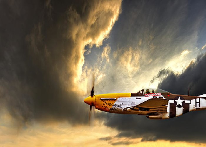 P-51 Mustang Greeting Cards